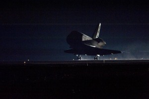 Endeavour lands at the Kennedy Space Center.  Source:  NASA